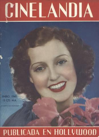 Jeanette MacDonald 1940 Magazine Cover