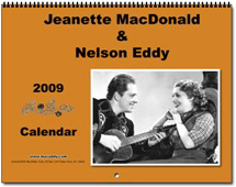 Jeanette MacDonald and Nelson Eddy 2009 calendar