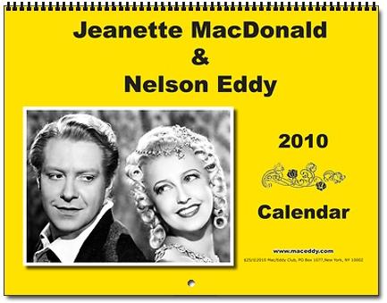 Jeanette MacDonald Nelson Eddy 2010 Calendar