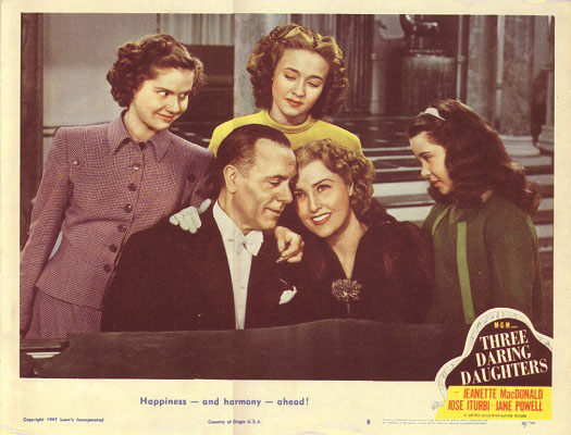 "Jeanette MacDonald and co-stars in ""Three Daring Daughters"" (1948)"
