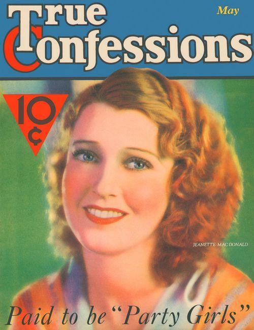 Jeanette MacDonald True Confessions magazine cover