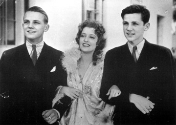 Jeanette MacDonald with twins Richard and Lawrence Tibbet, Jr.