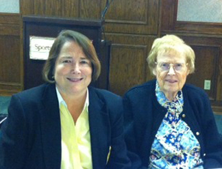 Linda Tolman and Madeline Bayless