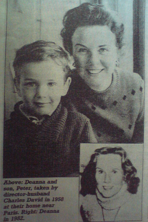 deanna and son 1958
