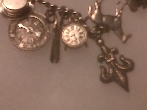 closeup of clock charm